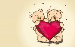 Teddy Bears Red Heart Art