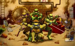Teenage Mutant Ninja Turtles Leonardo Raphael Michelangelo Donatello Cartoon