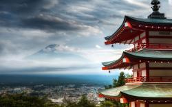 Temple mount fuji