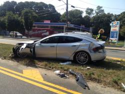 Tesla Model S Gets Wrecked: Owner Says Vehicle Saved His Life (Images – Owner Testimonial)