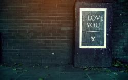 Text I Love You Keys Wall Bricks