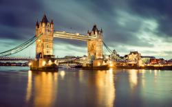Wallpaper of tower bridge thames river london great britain