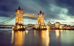 Wallpaper of tower bridge thames river london great britain