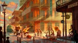 The Princess and the Frog - concept art wallpaper