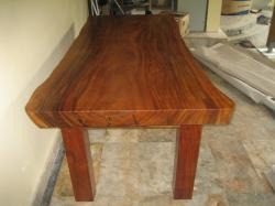 Labels: Exotic wood, Table