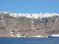 View of Fira from the sea