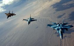Three Jet Fighter