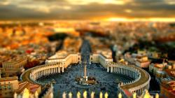 1366x768 Cityscapes Tilt shift wallpaper