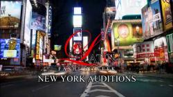 Model casting Latin fashion week New York City Time Square promo
