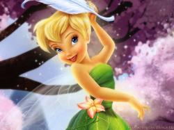 Tinkerbell Flowerdrop Wallpaper HD 1080p