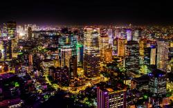Beautiful Night Cityscape Of Tokyo Wide Desktop Background HD wallpapers