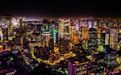 Beautiful Night Cityscape Of Tokyo Wide Desktop Background HD wallpapers