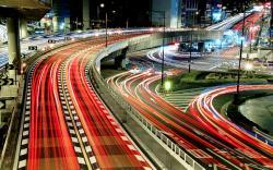 Tokyo traffic night