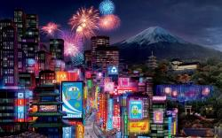 Tokyo City in Cars 2