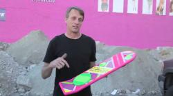 Real Life Hoverboard Tony Hawks Rides the next gen skateboard.