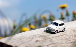 March Miniature Toy Car Wood Mac