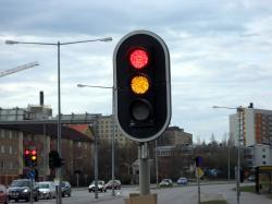 LED traffic lights in Örnsköldsvik, Sweden