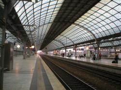 Berlin-Spandau station[edit]. Train shed