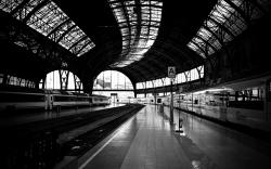 Railway statio... Train Station Desktop Wallpaper ...