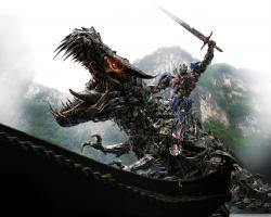 Transformers 4 Optimus Prime Vs Dinobot HD Wide Wallpaper for Widescreen