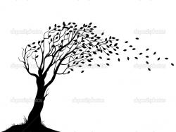 Vector Illustration of Autumn tree silhouette — Vector by idesign2000