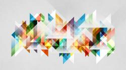 Pastel Triangles Forming A Shape Wallpaper