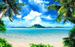 Tropical Beach HD Background
