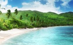 Tropical beach seychelles