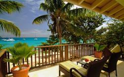 Tropical beach terrace