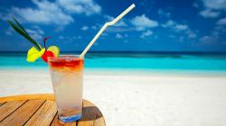 tropical cocktail holidays beaches wallpaper background