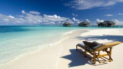 Beautiful Tropical Sandy Beach Wallpaper