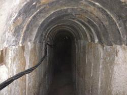Section of the tunnel discovered running from the Gaza Strip to Israel, October 13,