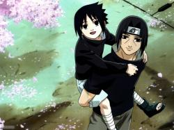 Uchiha brothers, Itachi taught Sasuke to hate him. Sasuke's wish is now to kill his brother, responsible for the Uchiha clan extermination.