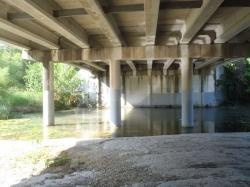 stream under bridge