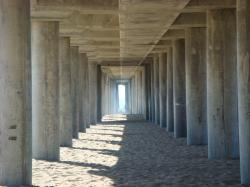... under huntington pier ...