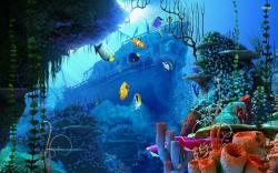 ... Underwater wreck wallpaper 1920x1200 ...