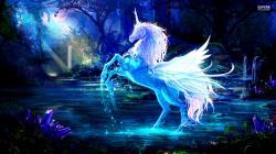 Sparkling crystal unicorn wallpaper 1920x1080 jpg