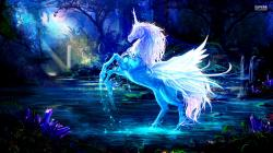 Sparkling crystal unicorn wallpaper 1920x1080 jpg