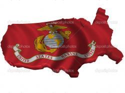 Illustration Flag and map of United States Marine Corps — Photo by sav_up