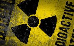 radioactive sign radioactivity for uranium