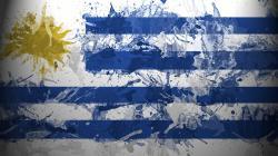 Uruguay Flag Abstract