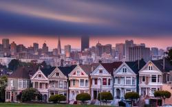 USA California San Francisco Alamo Square Houses