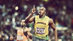 ... Usain Bolt Points Up for 1920x1080