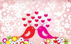 Marvellous St Valentines Wallpaper Love Bird 1680x1050px