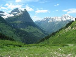 U-shaped valley in Glacier National Park, Montana, USA