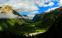 Valley mountains forest scenery