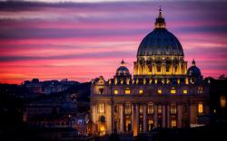 Sunset vatican city ...