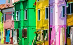Vibrantly colored houses