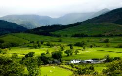 grasmere village widescreen high definition wallpaper