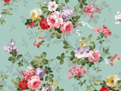Download Classic Floral Vintage Design Wallpaper